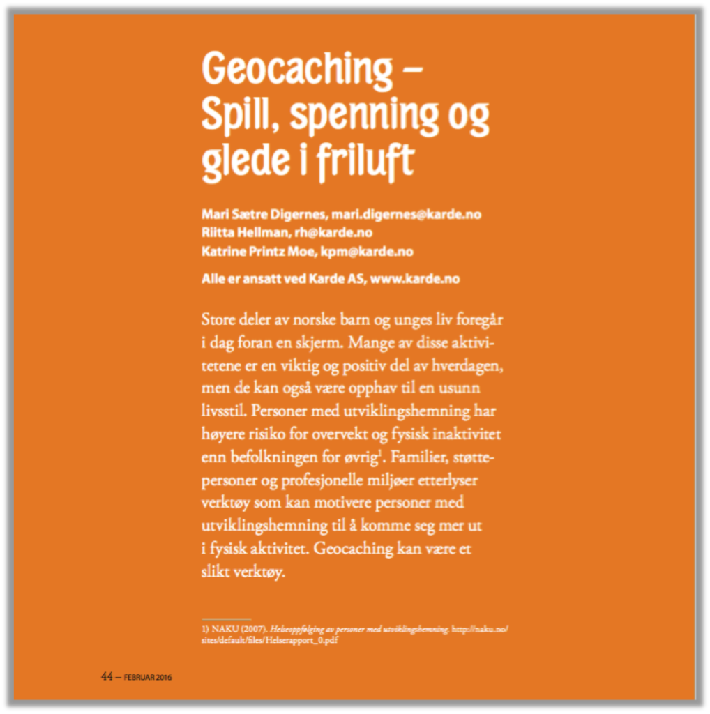 Artikkel_Geocaching