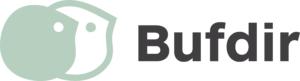 Bufdirs logo med to stiliserte ansiktsprofiler og ordet Bufdir
