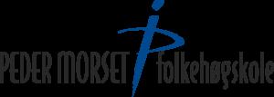 Peder Morset folkegøgskolens logo med navnet til skolen