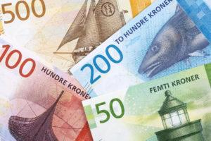 Mange norske sedler